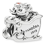 Disney Pandora Charm - 2018 Santa Mickey and Minnie Mouse Sleigh