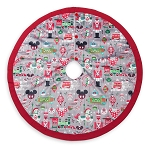 Disney Christmas Tree Skirt - Nordic Winter - Santa Mickey and Friends