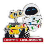 Disney Holiday Pin - WALL-E and EVE - Happy Holidays
