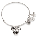 Disney Alex & Ani Bracelet - Filigreed Mickey Icon Bangle - Silver