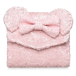 Disney Loungefly Wallet - Minnie Mouse Sequined - Light Pink