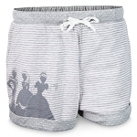 Disney Lounge Shorts for Women - Disney Princesses - Gray