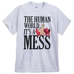 Disney T-Shirt for Adults - Sebastian - The Human World is a Mess