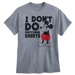 Disney T-Shirt for Adults - Mickey Mouse - I Don't Do Matching Shirts