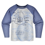 Disney Shirt for Boys - Darth Vader Raglan - Star Wars