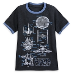 Disney Shirt for Boys - Star Wars Blueprints - Ringer