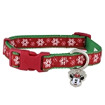 Disney Tails Dog Collar - Holiday Snowflakes - Minnie Mouse