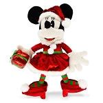 Disney Holiday Plush - Santa Minnie Mouse with Gift - Medium