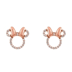 Disney Rebecca Hook Earrings - Minnie Mouse Rose Gold Icon