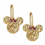Disney Arribas Earrings - Minnie Mouse Filigree Icon - Gold