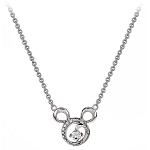 Disney Arribas Necklace - Mickey Mouse Icon Swirl - Silver