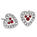 Disney Arribas Earrings - Mickey Mouse Heart - Red