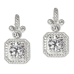 Disney Rebecca Hook Earrings - Mickey Mouse Square Pavé