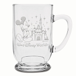 Disney Arribas Glass Mug - Mickey and Castle - Personalizable - 16oz