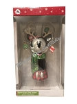 Disney Tree Topper - Holiday Santa Mickey Reindeer - Blown Glass