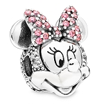 Disney Pandora Charm - Minnie Mouse Portrait with Pink Bow