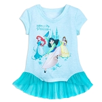 Disney Top for Girls - Nothing can Stop a Princess - Aqua