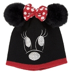 Disney Knit Hat - Minnie Mouse with Plush Ears and Bow - Youth