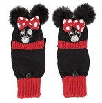 Disney Winter Gloves - Minnie Mouse with Plush Ears and Bow - Youth