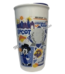 Disney Travel Tumbler - Starbucks - Epcot Park Icons