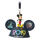 Disney Ear Hat Ornament - 2019 Dated - Walt Disney World - Light Up