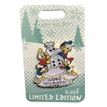 Disney Holidays Pin - Happy Holidays 2018 - Donald Duck and Nephews