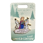 Disney Holidays Pin - Happy Holidays 2018 - Anna and Olaf