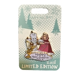 Disney Holidays Pin - Happy Holidays 2018 - Belle and Lumiere