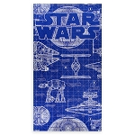 Disney Beach Towel - Star Wars Blueprint