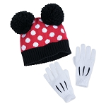 Disney Hat and Glove Set - Minnie Mouse Signature - Youth