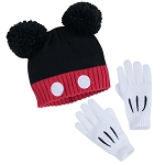 Disney Hat and Glove Set - Mickey Mouse Signature - Youth