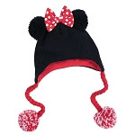 Disney Knit Hat for Adults - Minnie Mouse with Bow and Pom Poms