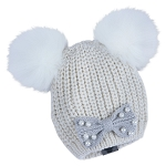 Disney Knit Beanie for Women - Minnie Mouse - White