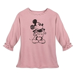 Disney Shirt for Women - Mickey Mouse Pearled Pullover Top - Pink