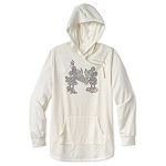 Disney Hoodie for Women - Mickey and Minnie Rhinestone - White