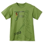 Disney Shirt for Girls - Tiana - Girl Boss - Green