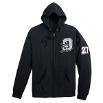 Disney Zip Hoodie for Adults - Oswald Varsity - Black