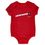 Disney Bodysuit for Baby - Mickey Mouse All Over Logo - Red