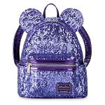 Disney Loungefly Backpack - Minnie Mouse Sequined - Potion Purple