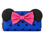 Disney Loungefly Wallet - Minnie Mouse with Bow - Blue and Pink