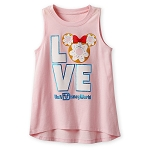 Disney Tank Top for Girls - Minnie Mouse Donut - LOVE