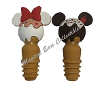 Disney Bottle Stopper Set - Disney Treats - Mickey and Minnie
