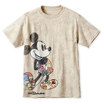 Disney Shirt for Men - Mickey Mouse Through the Years - Tan