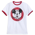 Disney Shirt for Kids - Mickey Mouse Club Ringer - White