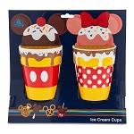 Disney Ice Cream Cups - Disney Treats - Mickey and Minnie - Set of 2