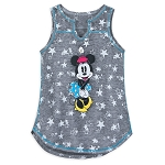 Disney Tank Top for Girls - Minnie Mouse with Stars - Gray