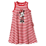 Disney Dress for Girls - Minnie Mouse Striped - Red and White
