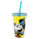 Disney Tumbler with Straw - Mickey Mouse Celebrate