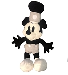 Disney Knit Plush - Steamboat Willie Mickey - 11