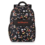 Disney Backpack Bag - Classic Mickey Mouse Poses - Black